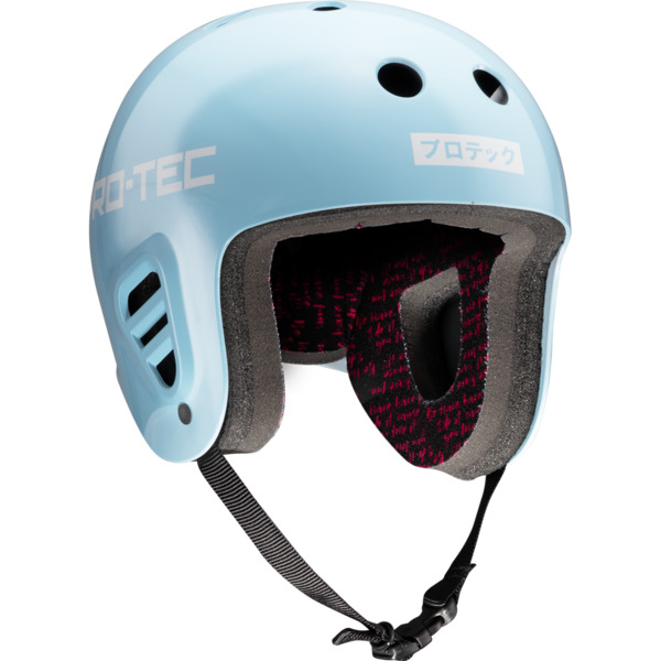 "ProTec Sky Brown Full Cut Light Blue / White Full Cut Skate Helmet - Small / 21.3"" - 22"""