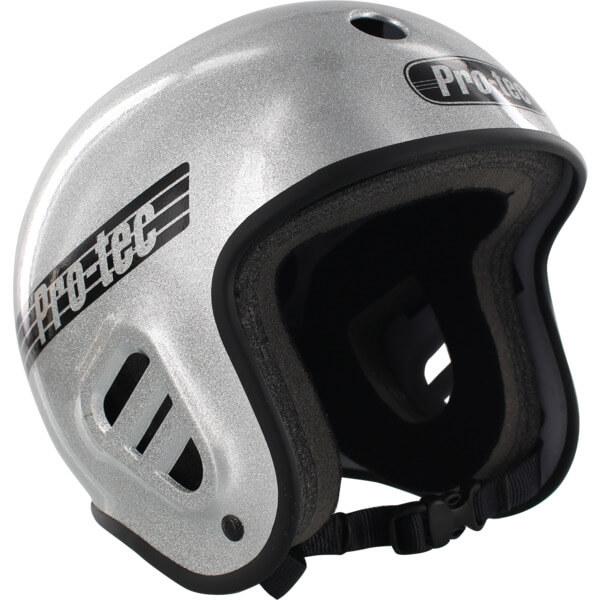"ProTec Full Cut Classic Silver Flake Full Cut Skate Helmet - X-Small / 20.5"" - 21.3"""