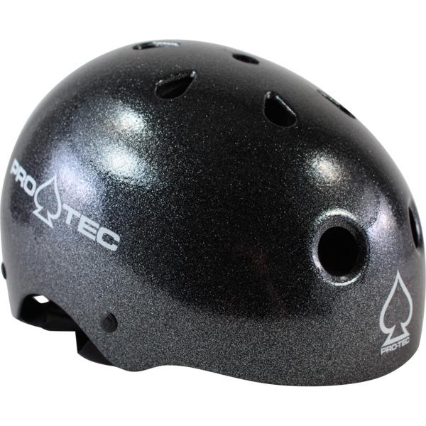 "ProTec Classic Black Metal Flake Skate Helmet - Medium / 22"" - 22.8"""