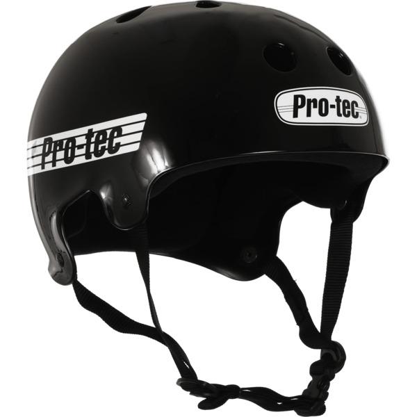 "ProTec Classic Old School Gloss Black / White Skate Helmet - X-Large / 23.6"" - 24.4"""