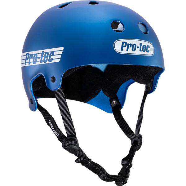 "ProTec Classic Old School Matte Metallic Blue Skate Helmet - Large / 22.8"" - 23.6"""
