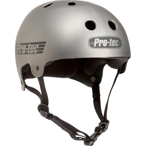 "ProTec Classic Old School Matte Metallic Gun Skate Helmet - Large / 22.8"" - 23.6"""
