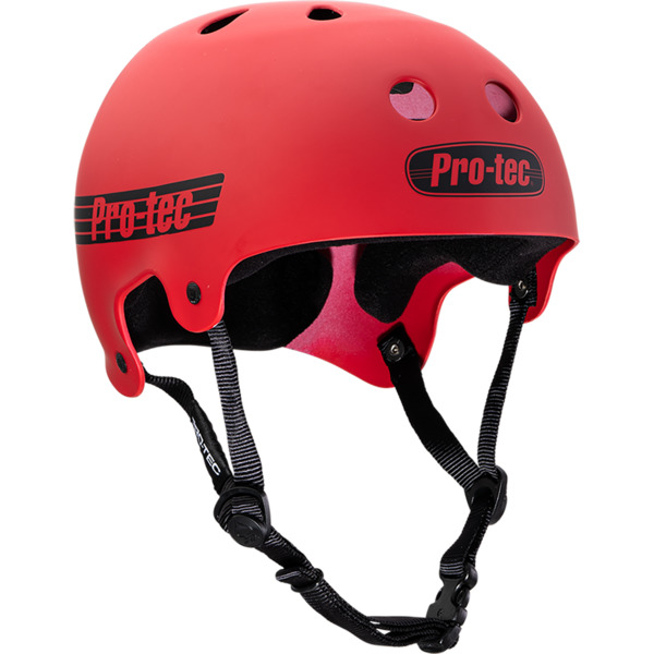 """ProTec Classic Old School Matte Red Skate Helmet - X-Small / 20.5"""" - 21.3"""""""