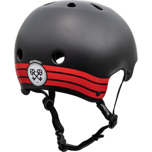 "ProTec Classic Old School Skeleton Key Black / Red Skate Helmet - X-Large / 23.6"" - 24.4"""