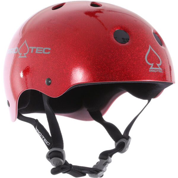 "ProTec Classic Red Flake Skate Helmet - X-Large / 23.6"" - 24.4"""