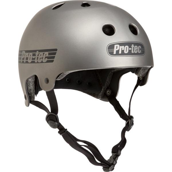 "ProTec Classic Old School Matte Metallic Gun Skate Helmet CPSC Certified - X-Small / 20.5"" - 21.3"""