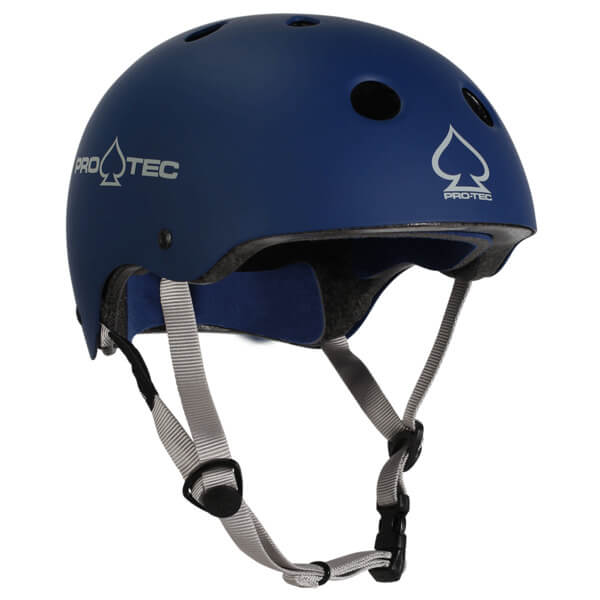 """ProTec Classic CPSC Rubber Blue Skate Helmet CPSC Certified - (Certified) - X-Large / 23.6"""" - 24.4"""""""