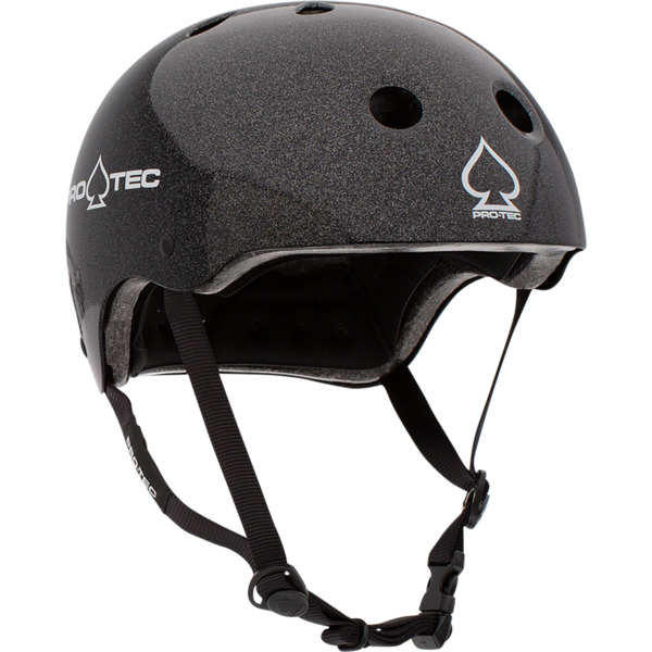 "ProTec Classic Black Metal Flake Skate Helmet CPSC Certified - X-Large / 23.6"" - 24.4"""