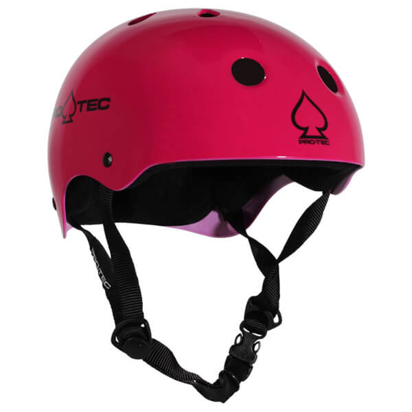 """ProTec Classic CPSC Gloss Pink Skate Helmet CPSC Certified - (Certified) - X-Large / 23.6"""" - 24.4"""""""