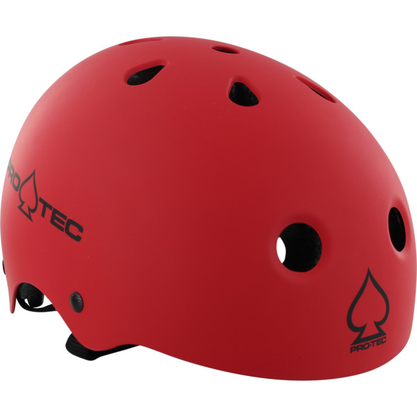 """ProTec Classic CPSC Matte Red Skate Helmet - (Certified) - Small / 21.3"""" - 22"""""""