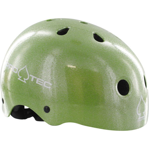 """ProTec Classic CPSC Green Flake Skate Helmet CPSC Certified - (Certified) - X-Small / 20.5"""" - 21.3"""""""