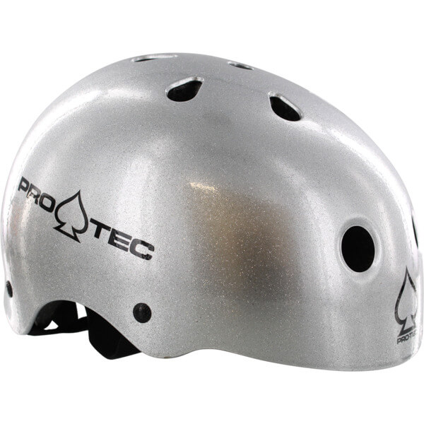 """ProTec Classic CPSC Silver Flake Skate Helmet CPSC Certified - (Certified) - X-Large / 23.6"""" - 24.4"""""""
