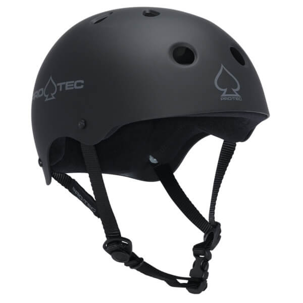 """ProTec Classic CPSC Rubber Black Skate Helmet CPSC Certified - (Certified) - Small / 21.3"""" - 22"""""""