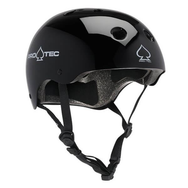 "ProTec Classic CPSC Gloss Black Skate Helmet CPSC Certified - (Certified) - X-Small / 20.5"" - 21.3"""