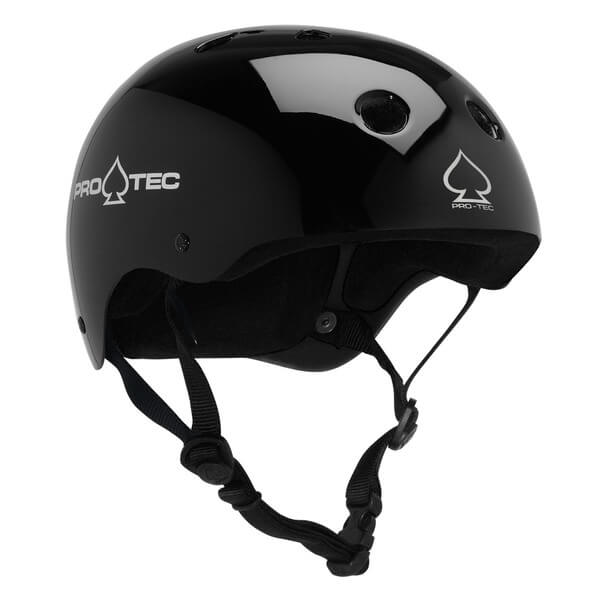 "ProTec Classic CPSC Gloss Black Skate Helmet - (Certified) - Medium / 22"" - 22.8"""