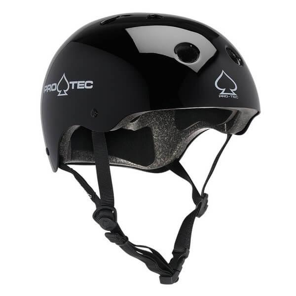 "ProTec Classic CPSC Gloss Black Skate Helmet - (Certified) - X-Large / 23.6"" - 24.4"""
