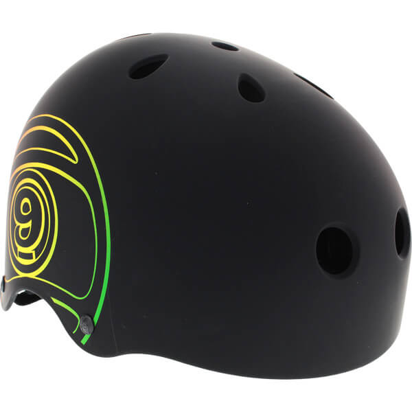 "Sector 9 Logic III Black / Rasta Logo Skate Helmet - Small / 20.6"" - 21.3"""