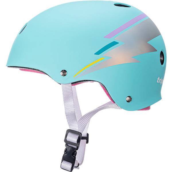 "Triple 8 Certified Sweatsaver Teal Hologram Skate Helmet CPSC Certified - (Certified) - XS/S 20"" - 21.25"""