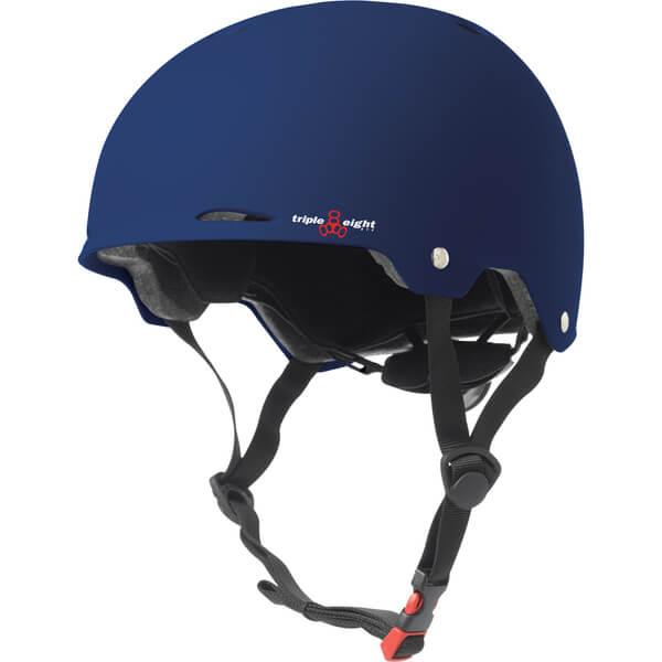 "Triple 8 Gotham Blue Matte Skate Helmet Dual Certified CPSC & ASTM - (Certified) - XS/S 20"" - 21.25"""