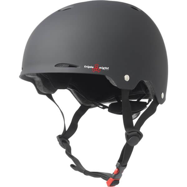 "Triple 8 Gotham Matte Black Skate Helmet Dual Certified CPSC & ASTM - (Certified) - XS/S 20"" - 21.25"""