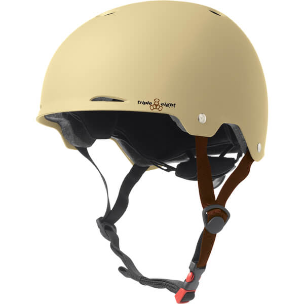 "Triple 8 Gotham Cream Matte Skate Helmet Dual Certified CPSC & ASTM - (Certified) - XS/S 20"" - 21.25"""