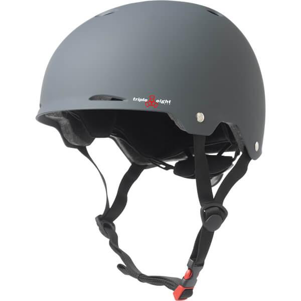 "Triple 8 Gotham Gun Matte Rubber Skate Helmet Dual Certified CPSC & ASTM - (Certified) - L/XL 23.2"" - 24"""