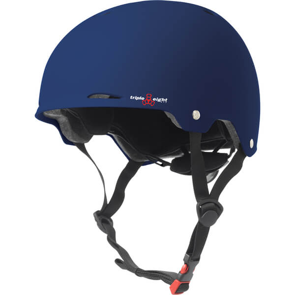 "Triple 8 Gotham Blue Matte Skate Helmet Dual Certified CPSC & ASTM - (Certified) - L/XL 23.2"" - 24"""
