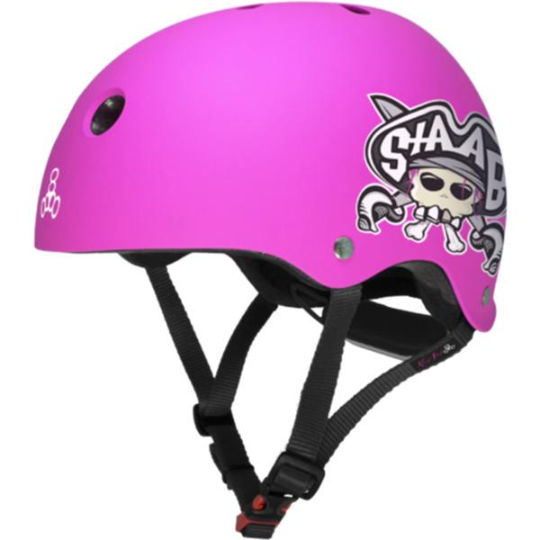"Triple 8 Lil 8 Staab Matte Neon Pink Skate Helmet - (Certified) - Youth 18"" - 20.5"""