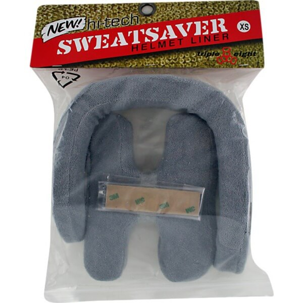 "Triple 8 Sweatsaver Grey Skateboard Helmet Liners - Medium / 21.4"" - 22"""