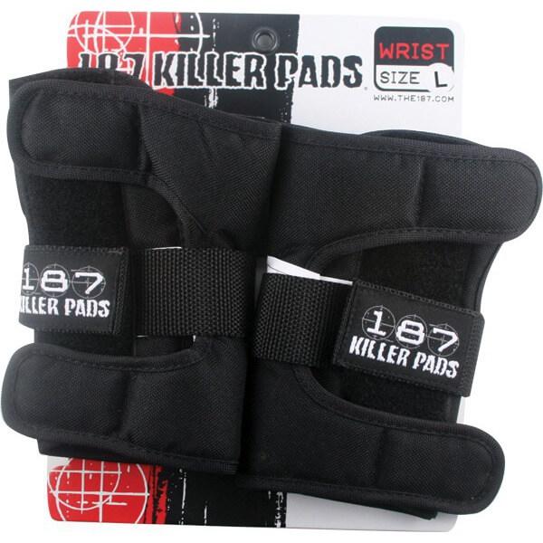 187 Killer Pads Black Wrist Guards - Large