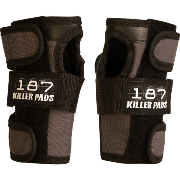 187 Killer Pads Dark Grey Wrist Guard - Large