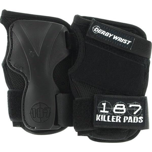187 Killer Pads Derby Black Wrist Guard - Large
