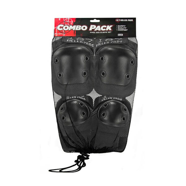 187 Killer Pads Combo Pack Black Knee & Elbow Pad Set - X-Small