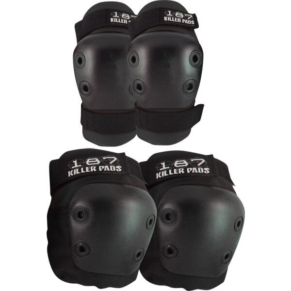 187 Killer Pads Combo Pack Black Knee & Elbow Pad Set - Small / Medium