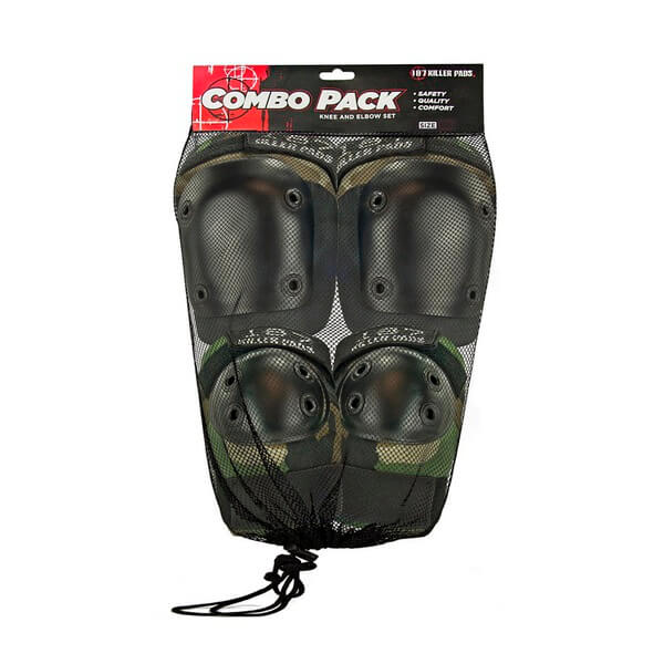 187 Killer Pads Combo Pack Camo Knee & Elbow Pad Set - Small / Medium