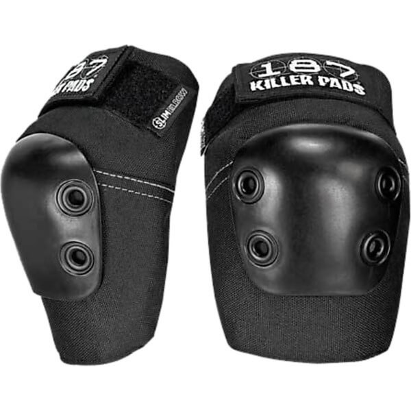 187 Killer Pads Slim Black Elbow Pads - Large