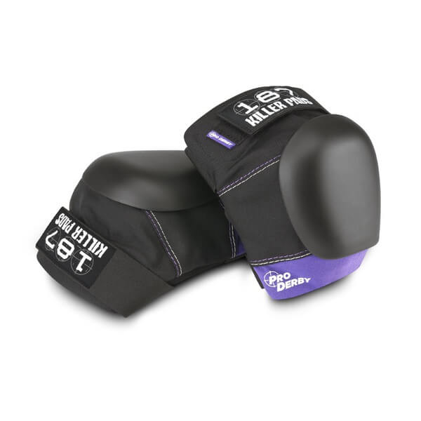 187 Killer Pads Pro Derby Black / Purple Knee Pads - X-Small