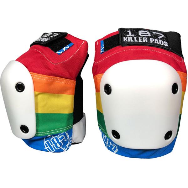 187 Killer Pads Slim Rainbow Knee Pads - Large