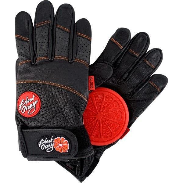 Blood Orange Leather Slide Gloves