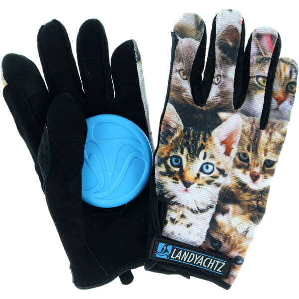 Landyachtz Cat Pattern Slide Gloves - X-Small