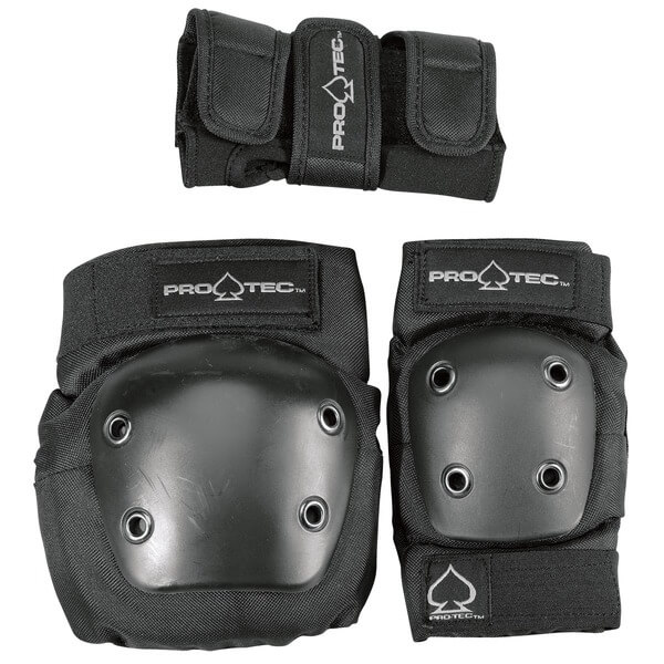 ProTec Street Black Knee, Elbow, & Wrist Pad Set - X-Small