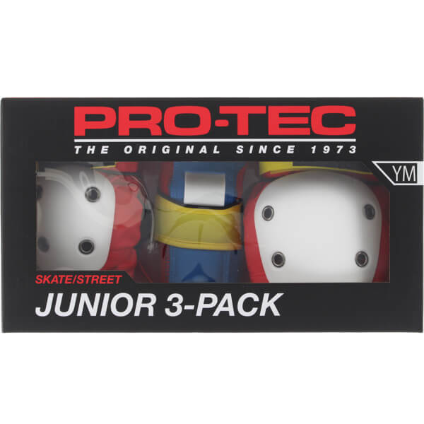 ProTec Junior 3 Pack Retro Knee, Elbow, & Wrist Pad Set - Youth Medium