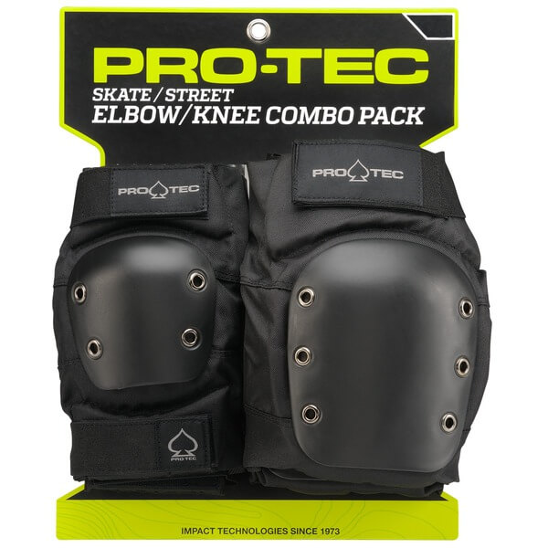 ProTec Street Black Knee & Elbow Pad Set - Medium