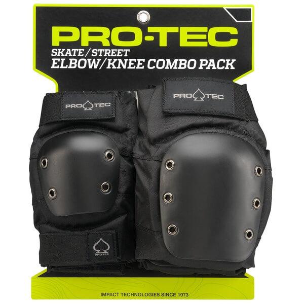 ProTec Street Black Knee & Elbow Pad Set - Large