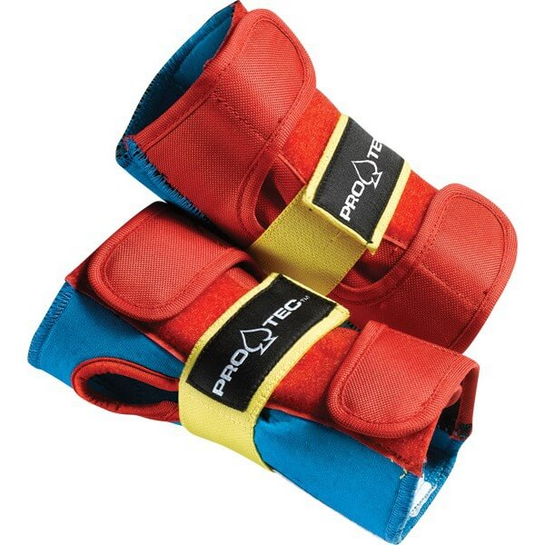 ProTec Street Retro Red / Blue / Yellow Wrist Guards - Small