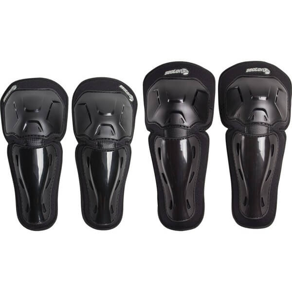 Sector 9 Riot Black Knee & Elbow Pad Set - Small / Medium