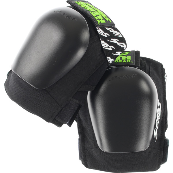 Smith Safety Gear Scabs Junior Black Knee Pads - Large / X-Large