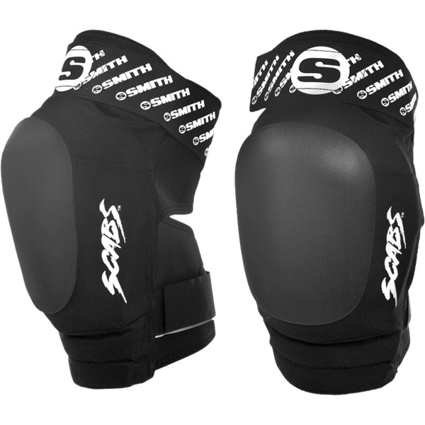 Smith Safety Gear Scabs Elite Black / Black Knee Pads - Large / X-Large