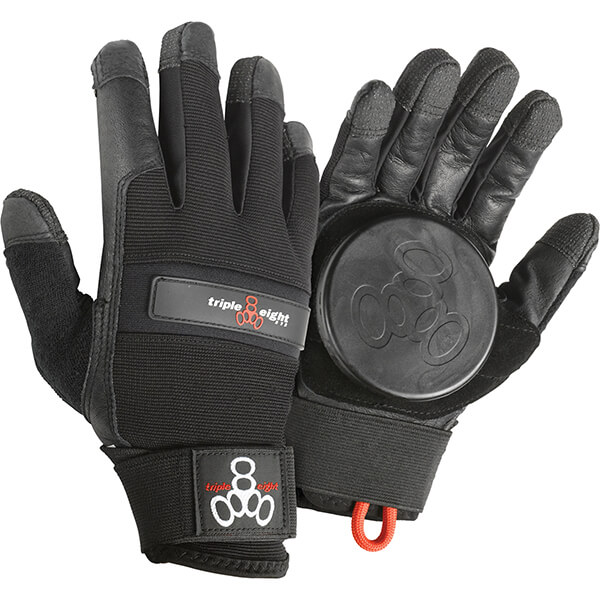 Triple 8 Downhill Longboard Black Slide Gloves - X-Small