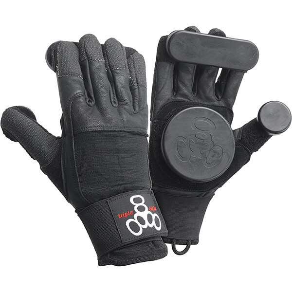 Triple 8 Sliders Longboard Black Slide Gloves - X-Small